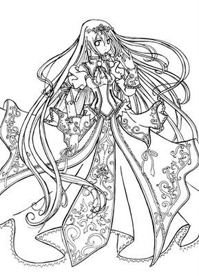 detailed coloring pages for adults princess coloring pages