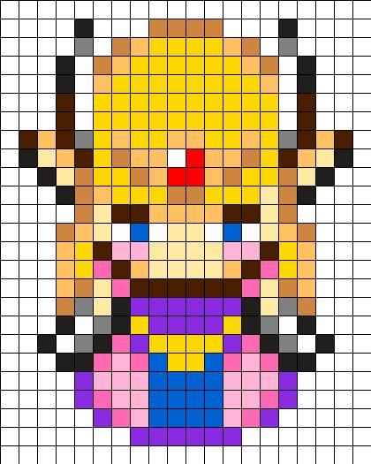 Zelda Perler Bead Pattern: