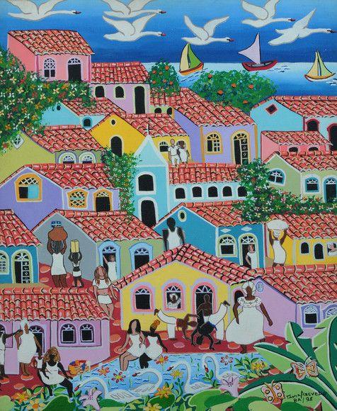Pintura acrílica Naif: