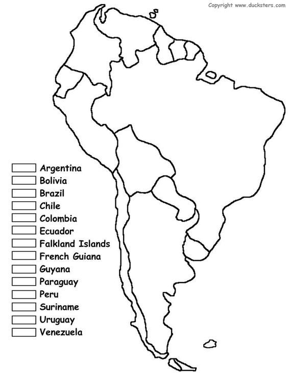 south america maps and coloring on pinterest