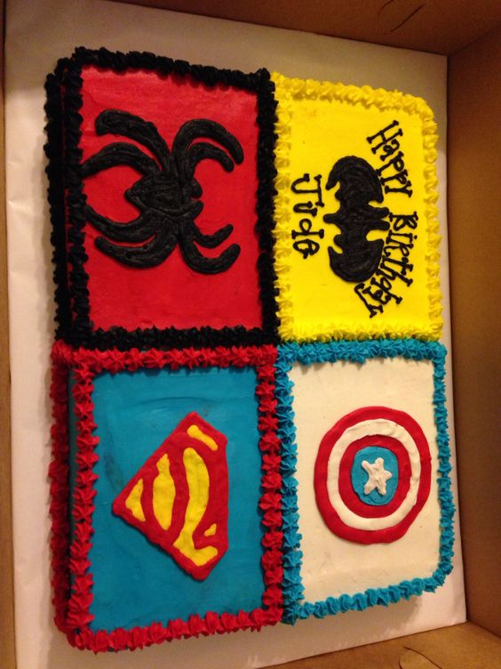 Sheet Cakes Superhero And Cakes On Pinterest