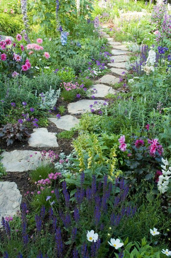 Gale Nurseries Inc.///good idea for path for rose garden on hillside to negotiate terrainbjr///: