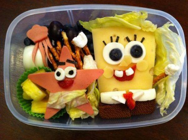 sandwich bob esponja comida divertida