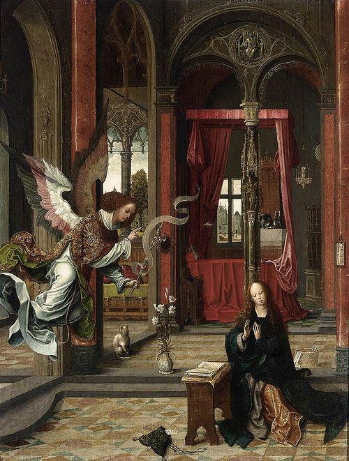 art-mirrors-art: Jan de Beer - Annunciation (c.1525):