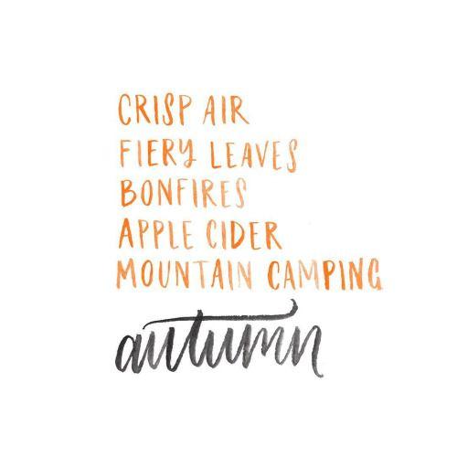 Crisp Air. Fiery Leaves. Bonfires. Apple Cider. Mountain Camping.: