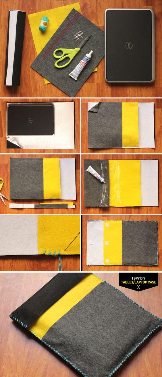 DIY laptop/tablet case Costura Pinterest Felt case