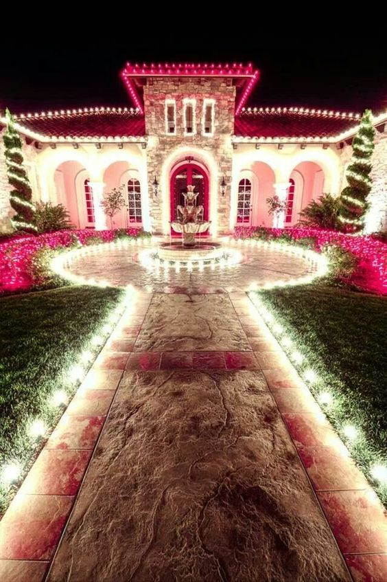 Pretty in pink mansion I'm dreaming of a pink Christmas