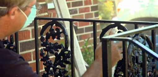 Painted Iron Railings For Porch On Repairing And Painting Wrought Handrails