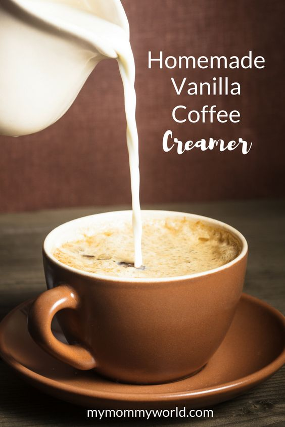 The Ultimate Pinterest Party, Week 147 This Homemade Vanilla Coffee Creamer recipe is so yummy, you'll never want to go back to the store bought stuff again. Made with clean ingredients that you already have in your pantry, this DIY coffee creamer takes just minutes to make and tastes great in your morning coffee.: