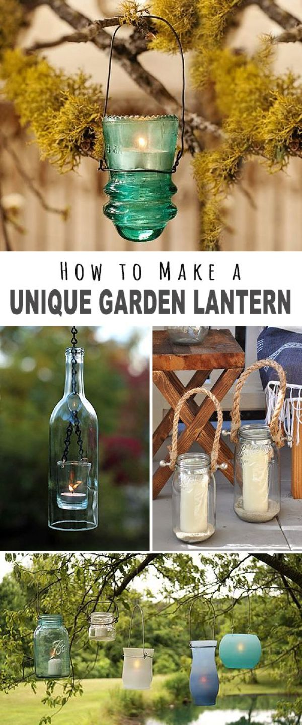How to Make a Unique Garden Lantern! • We found some great projects, ideas and tutorials for you. Explore this post to find your next fantastic DIY outdoor lighting project!: