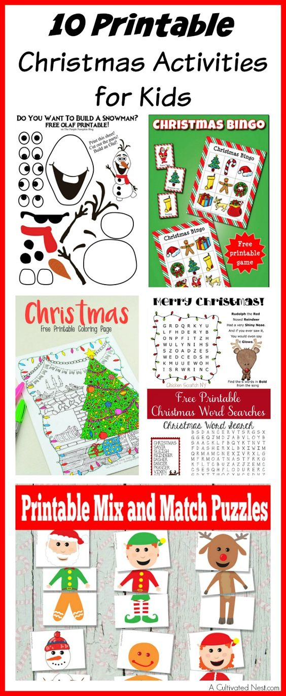 Christmas activities for kids, Christmas activities and