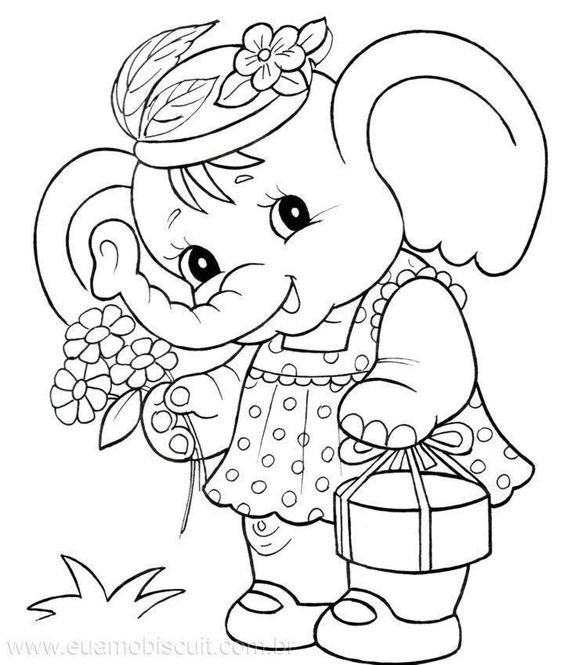 elephants coloring pages and coloring on pinterest