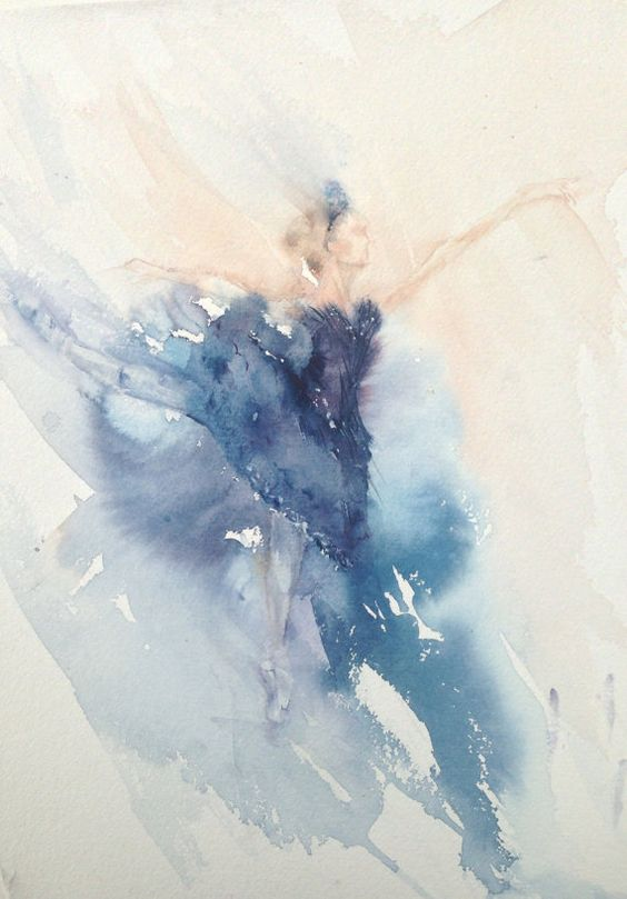 Watercolor Painting The Black Swan And Watercolors On
