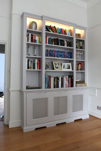 radiator with book case