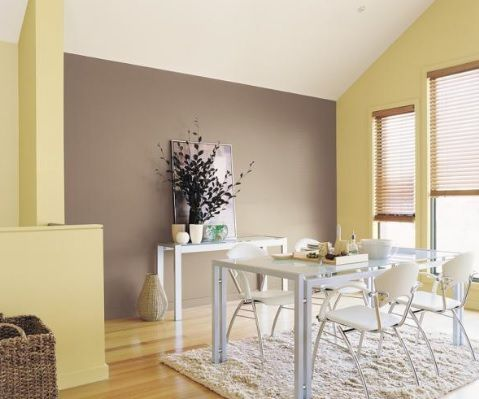 Brown Feature Wall With Cream Walls PaintRight Colac