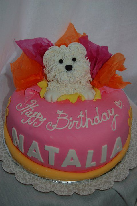 Happy Birthday Maltese Design Cake