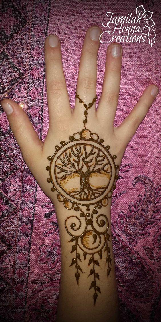 tree of life henna jewelry
