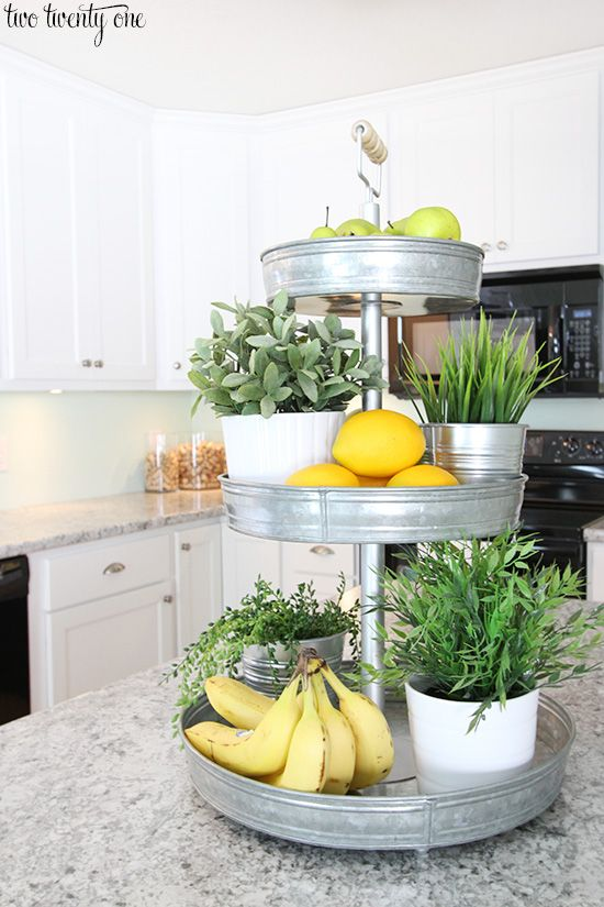 Love This Three Tiered Stand! - A stylish and convenient way to have fresh herbs, fruits and veggies all in one place!: