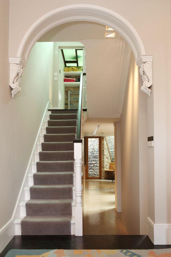12LPARestored Victorian Hallway Arch Architecture