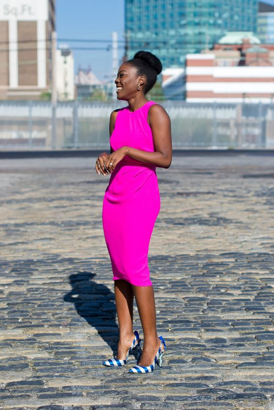 blackfashion: Pink Pencil dress by ASOS BGKI - the #1 website to view fashionable & stylish black girls: