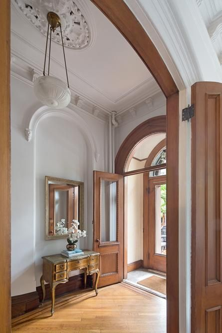 Brooklyn White Walls And Brown Trim On Pinterest