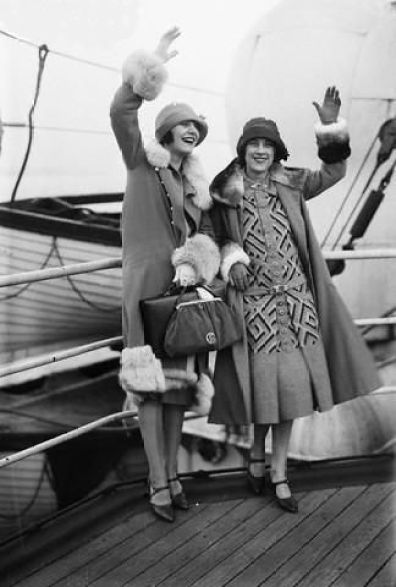 Stylish 1920s friends on a ship. - Or me and @Leora Dowling.: