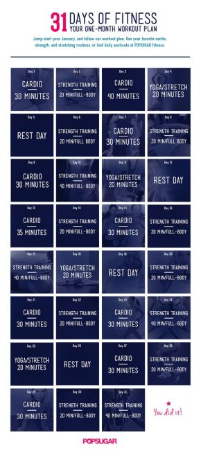 31 Day of Fitness workouts