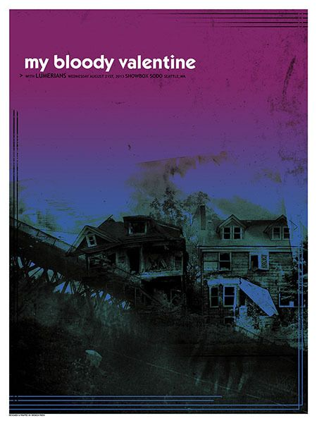 My Bloody Valentine Concert Poster By Andrew Crawshaw