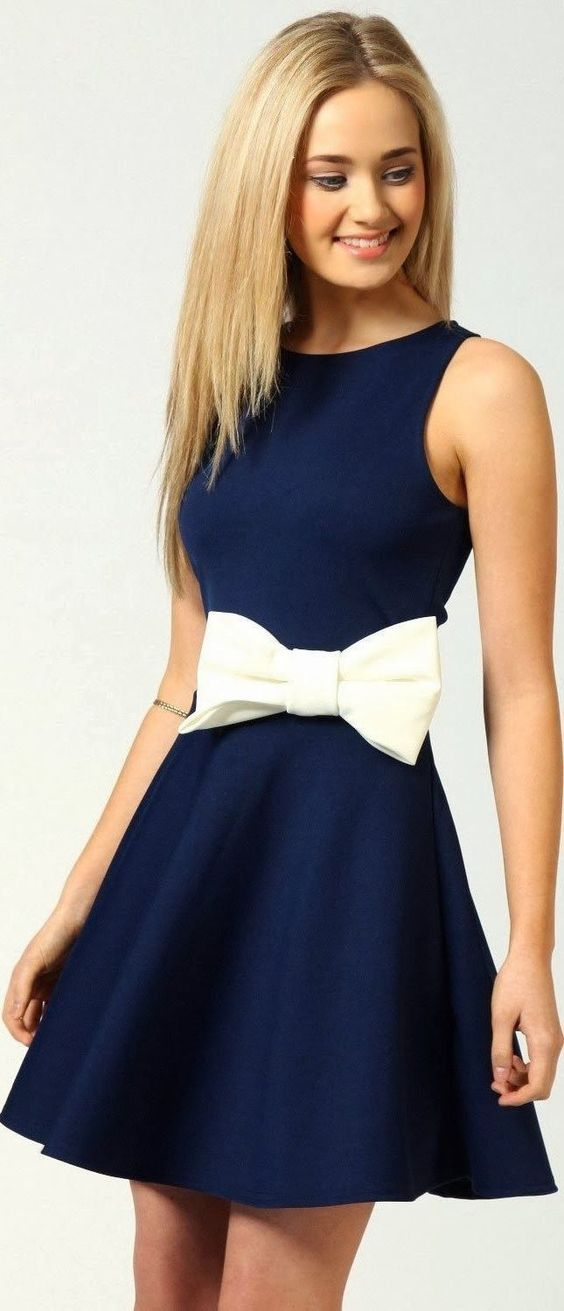 Love this concept-simple dress with large bow: