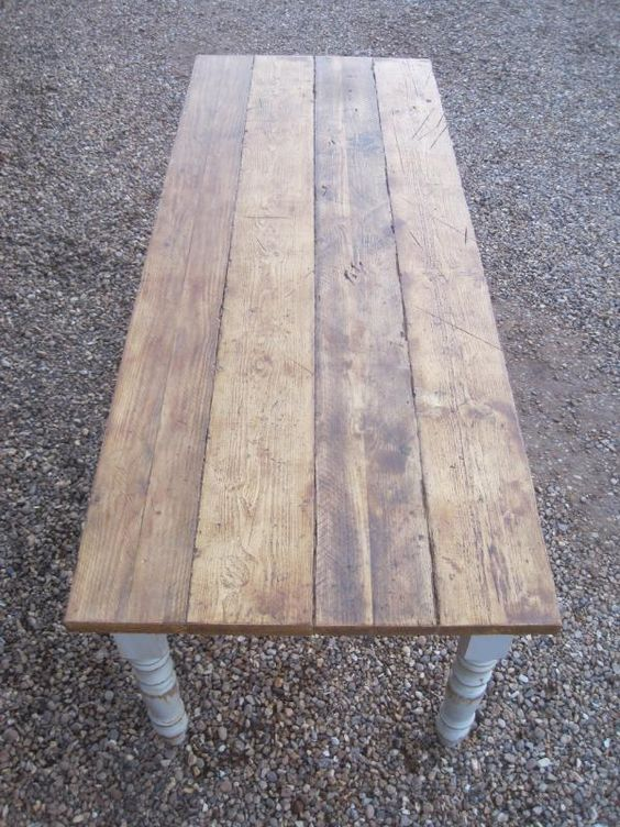 plank top,scaffold board top,Reclaimed Pine Farmhouse