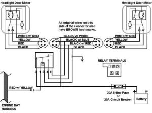 67 Camaro headlight Wiring Harness Schematic | This is the