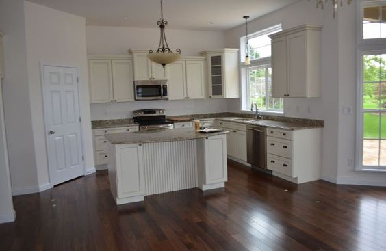 Walnut Floors Off White Cabinets Home Pinterest