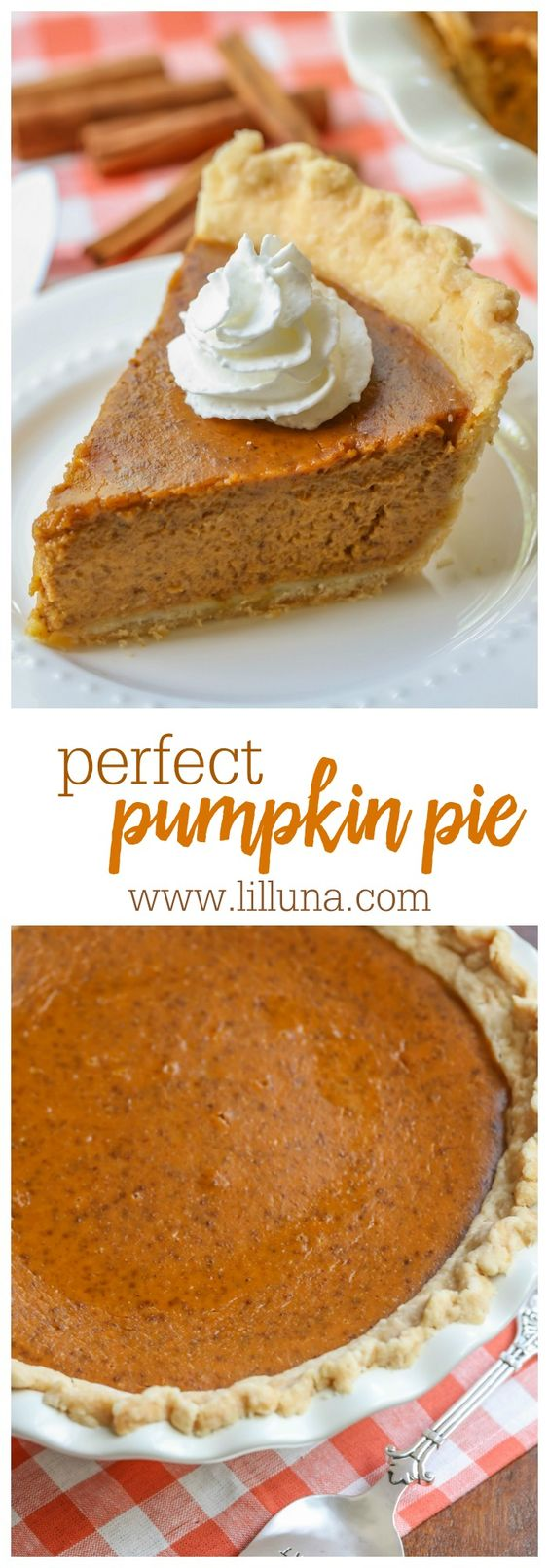 Perfect Classic Pumpkin Pie Recipe via lil' luna - the ultimate pumpkin pie recipe. Once you try this, you'll never go back to store bought!!