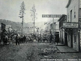 (Photograph of Deadwood taken from Deadwood Chinatown)I dreamt I was in Deadwood, South Dakota 2 nights ago, and took my laundry to some Chinaman, that also ran some sort of opium
