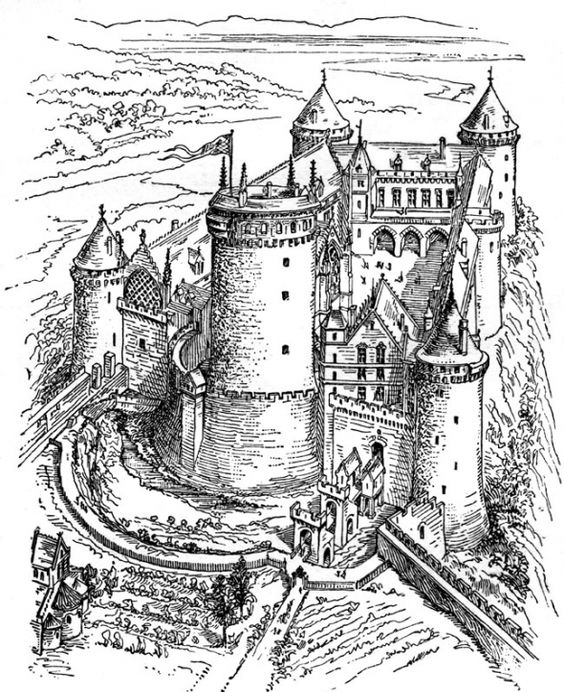 castles coloring pages for adults and coloring on pinterest