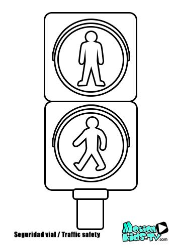 traffic sign traffic light and coloring pages on pinterest