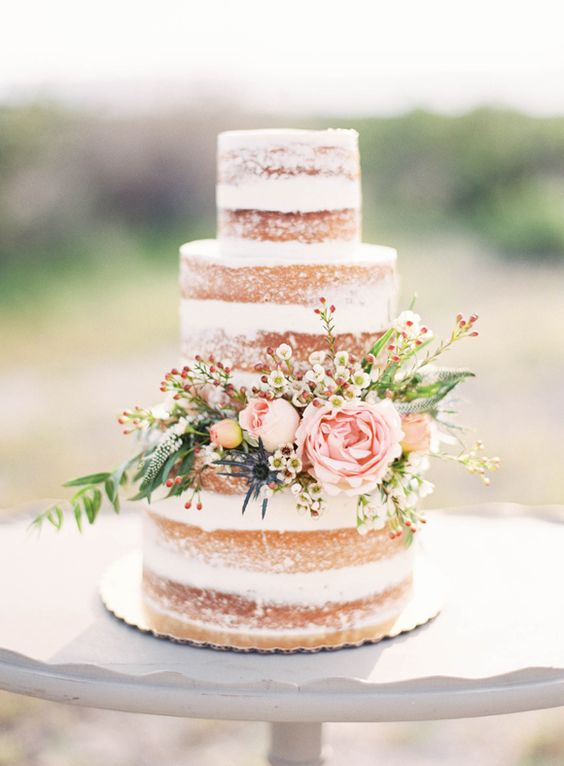 5 Easy DIY Wedding Cakes - Naked Wedding Cake