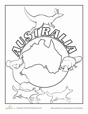 australia coloring page coloring pages coloring and australia