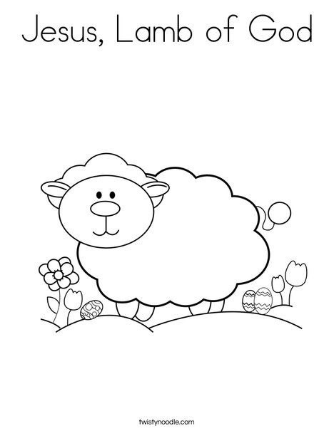 coloring pages lamb and jesus on pinterest