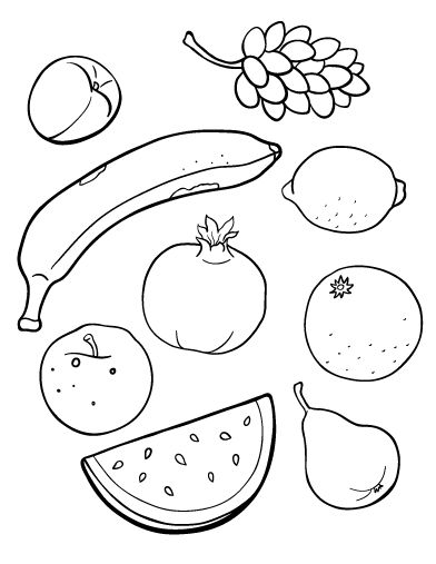 coloring coloring pages and fruit on pinterest