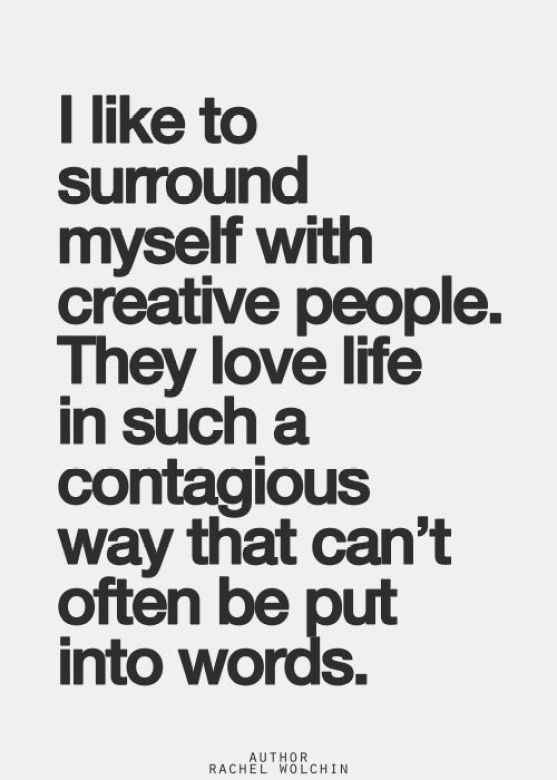 creative people: