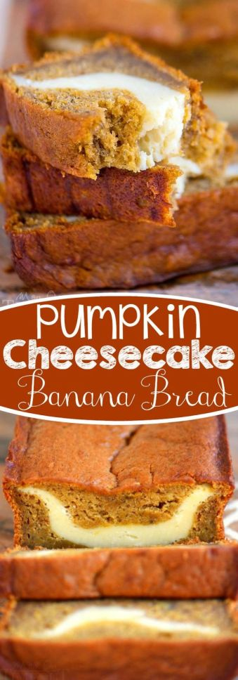 Pumpkin Cheesecake Banana Bread - 5 Wonderfully Moist Banana Bread Recipes
