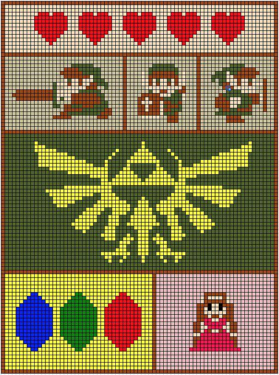 Zelda Blanket 8-bit images design.:
