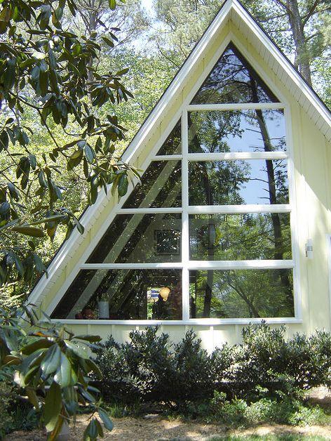 A mid-century modern A-frame in Atlanta via Northcrest Modern: