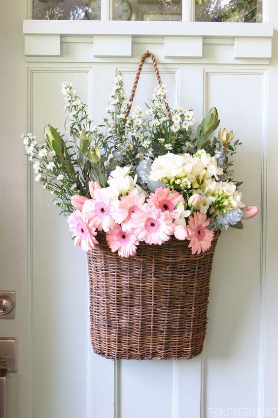 Spring Front Door Decor - The Inspired Room: