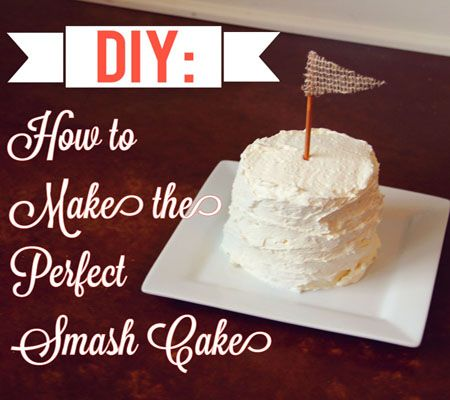 Diy Smash Cake Use Whip Cream For Less Sugary Frosting Add