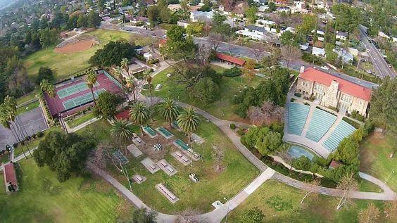 Aerial View Of Farnsworth Park In Altadena Altadena CA