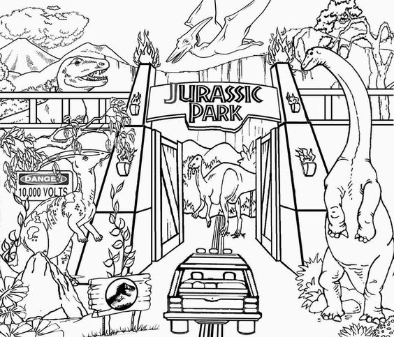 Coloriage Jurassic World Mosasaurus.Lego Jurassic Park Coloring Pages Best Image Park Coloring