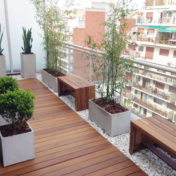 ahşap döşeme daire balkon