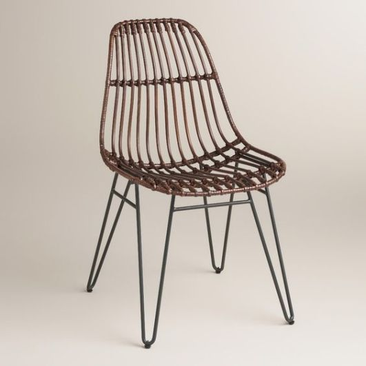 Inspired by the clean European design of the 20th century, our petite hairpin side chairs boast a spacious and comfortable molded seat. >> #WorldMarket Retro Revival:
